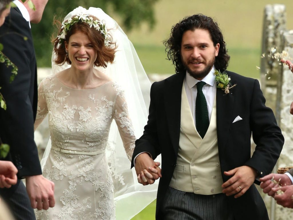 Star di Game of Thrones Kit Harington and Rose Leslie wedding
