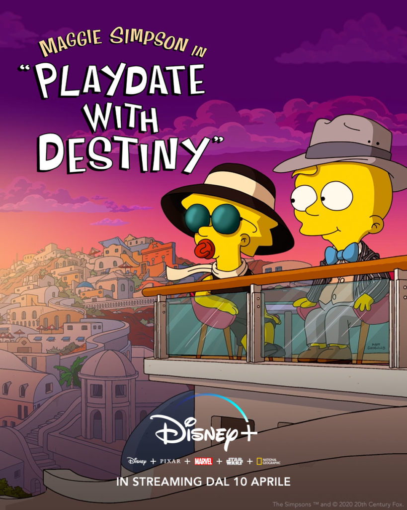 Disney+ corto de I Simpson Playdate With Destiny