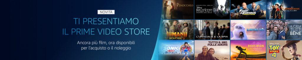 Amazon Prime Video annuncia l'arrivo del Prime Video Store in Italia