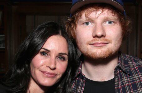 Courteney Cox e Ed Sheeran ballano insieme su Instagram come Monica e Ross