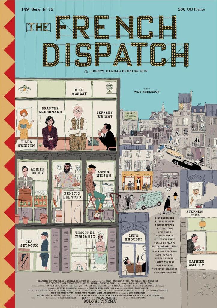 The French Dispatch: Il nuovo film di Wes Anderson dall'11 novembre al cinema